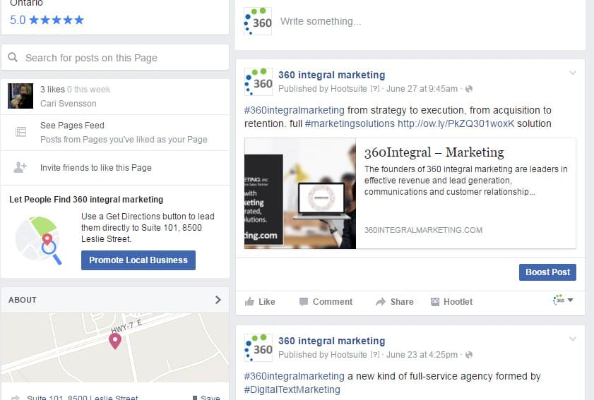 360 integral marketing facebook
