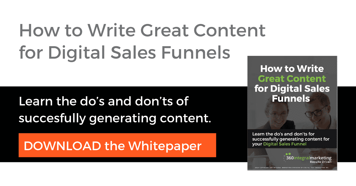 How to write great content for digital sales funnels whitepaper