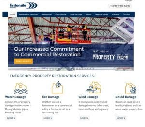 FirstOnSite Website Home page