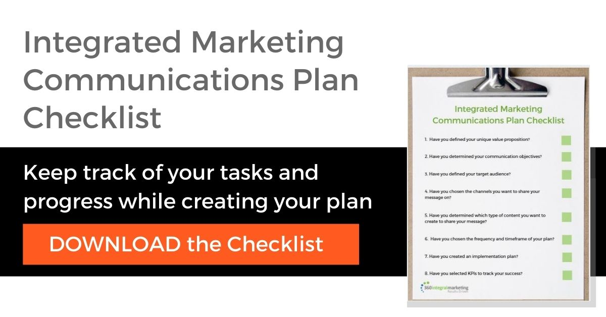 Integrated Marketing Plan Checklist