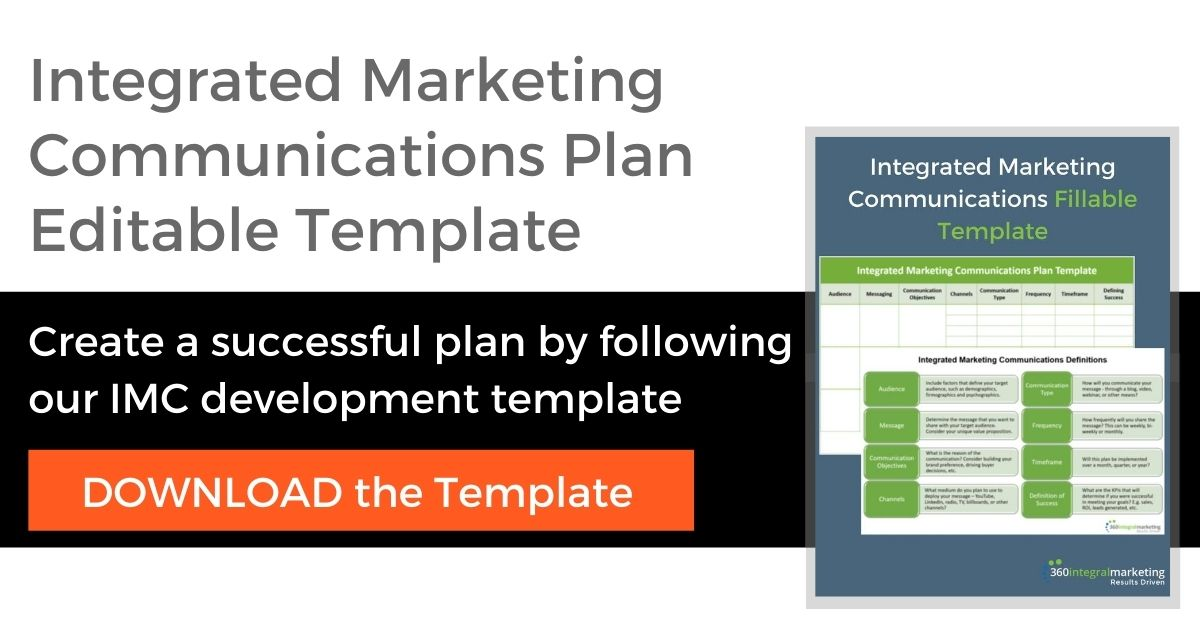 Integrated Marketing Communications Plan Editable Template