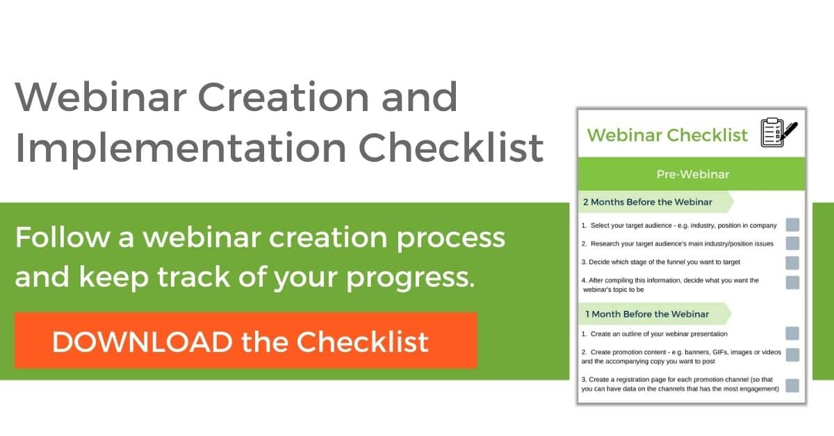 Webinar Checklist for Sales FunnelsCTA